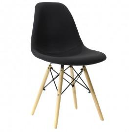 008-000009 Καρέκλα Julita πολυπροπυλενίου-ύφασμα μαύρο επαγγελματική κατασκευή