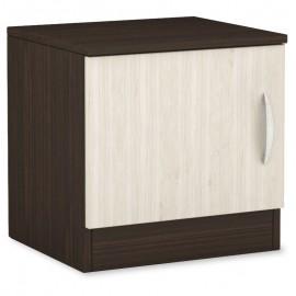 043-000034 Κομοδίνο Deco 111 με ένα ντουλάπι χρώμα wenge-oak 40x35,5x41