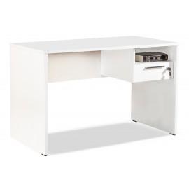 039-000025 Γραφείο Concept με συρτάρι και κλειδαριά σε χρώμα λευκό 120x60x75εκ