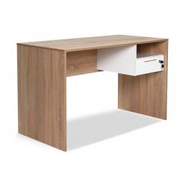 039-000026 Γραφείο Concept με συρτάρι σε χρώμα sonoma -λευκό 120x60x75εκ