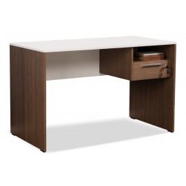 039-000024 Γραφείο Concept με συρτάρι σε χρώμα καρυδιά noce-λευκό 120x60x75εκ