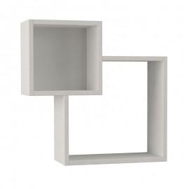 119-000812 Ραφιέρα τοίχου Diamond λευκό χρώμα 57,5x20x57,5εκ
