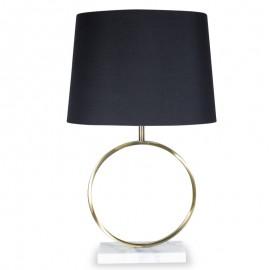 009-000051 Επιτραπέζιο μεταλλικό μπρονζέ φωτιστικό PWL-0014 μαύρο καπέλο Φ39x64εκ