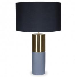 009-000050 Επιτραπέζιο μεταλλικό μπρονζέ φωτιστικό PWL-0013 μαύρο καπέλο Φ39,5x63εκ