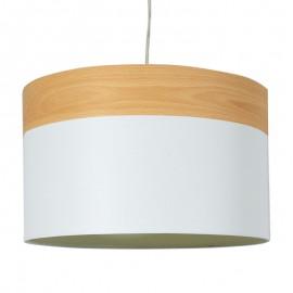 009-000046 Κρεμαστό φωτιστικό οροφής PWL-0011 με λευκό ύφασμα Φ40x25,5εκ