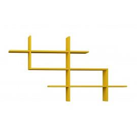 119-000863 Ραφιέρα τοίχου βιβλιοθήκη Halic χρώμα μουσταρδί 150x22x82εκ
