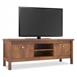 071-000144 Έπιπλο τηλεόρασης PWF-0060 από φυσικό ξύλο χρώμα καρυδί 140x46x53εκ