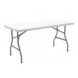 142-000002 Τραπέζι catering-συνεδρίου APRILIA λευκό μονοκόμματη επιφάνεια 152x76x74εκ