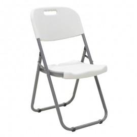 142-000006 Καρέκλα catering-συνεδρίου πτυσσόμενη EDISON χρώμα λευκού γρανίτη