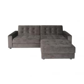 e9579,1 - JACKSON 2ΘΕΣΙΟΣ καναπές & σκαμπώ γκρι-καφέ 193Χ141Χ81Χ77 ΕΚ