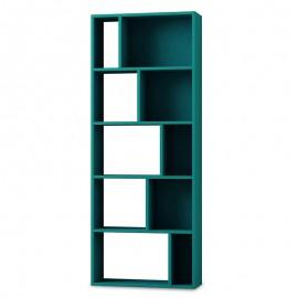 119-000882 Βιβλιοθήκη Onda χρώμα Τυρκουάζ 65x24x166εκ