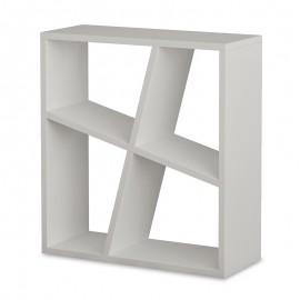 119-000828 Βοηθητικό τραπεζάκι Bal χρώμα λευκό 55x22x60εκ