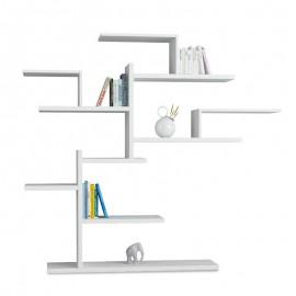 119-000834 Βιβλιοθήκη Bonsai χρώμα λευκό 175x25x161εκ