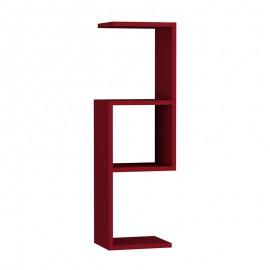 119-000848 Ραφιέρα τοίχου Dibi χρώμα σκούρο κόκκινο 29x22x89εκ