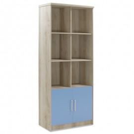 123-000082 Βιβλιοθήκη παιδική σύνθετη Looney χρώμα castillo-μπλε 80,5x36,5x183,5εκ