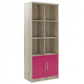123-000083 Βιβλιοθήκη παιδική σύνθετη Looney χρώμα castillo-ροζ 80,5x36,5x183,5εκ