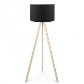 071-000018 Φωτιστικό δαπέδου PWL-0002 πόδια σε φυσικό - μαύρο καπέλο Φ38x140εκ