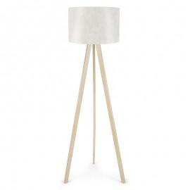 071-000016 Φωτιστικό δαπέδου PWL-0001 πόδια σε φυσικό - λευκό καπέλο Φ38x140εκ