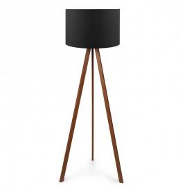 071-000023 Φωτιστικό δαπέδου PWL-0002 πόδια καφέ - μαύρο καπέλο Φ38x140εκ
