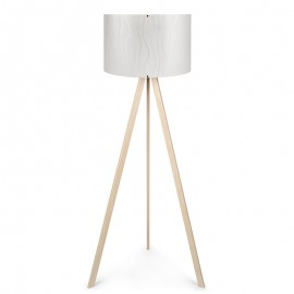 071-000029 Φωτιστικό δαπέδου PWL-0003 πόδια σε φυσικό - λευκό καπέλο Φ38x140εκ