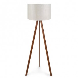 071-000028 Φωτιστικό δαπέδου PWL-0003 πόδια καφέ - λευκό καπέλο Φ38x140εκ