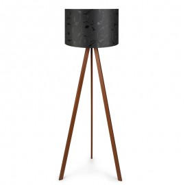 071-000024 Φωτιστικό δαπέδου PWL-0002 πόδια καφέ - μαύρο καπέλο Φ38x140εκ