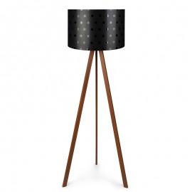 071-000027 Φωτιστικό δαπέδου PWL-0003 πόδια καφέ - μαύρο καπέλο Φ38x140εκ