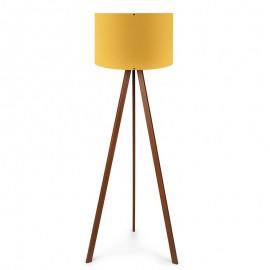 071-000025 Φωτιστικό δαπέδου PWL-0002 πόδια καφέ - κίτρινο καπέλο Φ38x140εκ