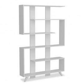 071-000137 Βιβλιοθήκη PWF-0056 χρώμα λευκό 120x20x162εκ