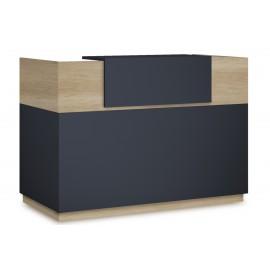 069-000016 Γραφείο reception Lotus pakoworld σε χρώμα φυσικό - ανθρακί 180x70x110εκ