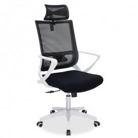 069-000006 Καρέκλα γραφείου διευθυντή Batman pakoworld με ύφασμα mesh μαύρο - λευκό πλαίσιο