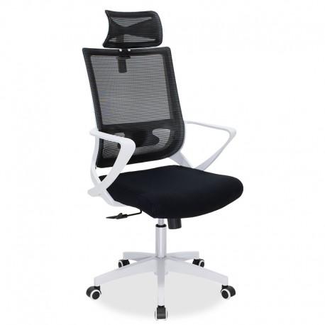 069-000006 Καρέκλα γραφείου διευθυντή Batman με ύφασμα mesh μαύρο - λευκό πλαίσιο