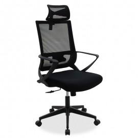 069-000005 Καρέκλα γραφείου διευθυντή Batman pakoworld με ύφασμα mesh χρώμα μαύρο
