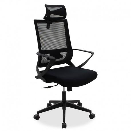 069-000005 Καρέκλα γραφείου διευθυντή Batman με ύφασμα mesh χρώμα μαύρο
