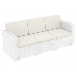 Τριθέσιος καναπές Monaco λευκός