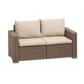 Διθέσιος καναπές πολυπροπυλενίου cappucino