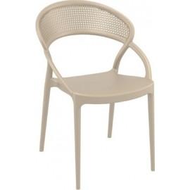 Sunset Καρέκλα Πολυπροπυλενίου 82*56*54*45 DOVE GREY 20-0193