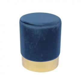 Ε7030,1 SOL Σκαμπώ Χρυσό/Ύφασμα Μπλε Velure