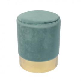 Ε7030,2 SOL Σκαμπώ Χρυσό/Ύφασμα Πράσινο Velure