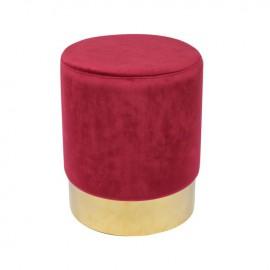 Ε7030,3 SOL Σκαμπώ Χρυσό/Ύφασμα Κόκκινο Velure