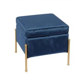 Ε7031,1 RAY Σκαμπώ Χρυσό/Ύφασμα Μπλε Velure