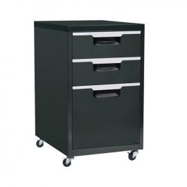 Ε6007,2 Συρταριέρα Μεταλλική 40x50x67cm Μαύρη