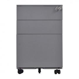 Ε6009,1 Συρταριέρα Μεταλλική 39x52x60cm Γκρι