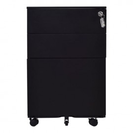 Ε6009,2 Συρταριέρα Μεταλλική 39x52x60cm Μαύρη