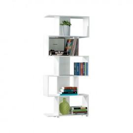 Ε762,3 ROSS Βιβλιοθήκη-Ραφιέρα 70x23x175cm Άσπρη