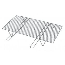 L166187 Επαγγελματική Σχάρα Ίσια Με Λαβές Και Πόδια, 60 x 40 x 12cm