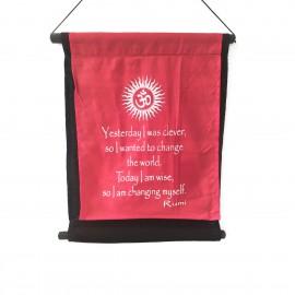 O-NYO11RED Κρεμαστό Διακοσμητικό Καδράκι με όμορφα χρώματα και μοντέρνα σχέδια. Χρώμα Κόκκινο, 38x45. O-NYO11RED
