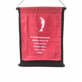 O-NYO12RED Κρεμαστό Διακοσμητικό Καδράκι με όμορφα χρώματα και μοντέρνα σχέδια. Χρώμα Κόκκινο, 38x45. O-NYO12RED
