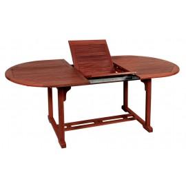 14189-203468 Οβάλ Επεκτεινόμενο τραπέζι Red Shorea ,140 + 40 = 180 x 80 x 75(H)cm