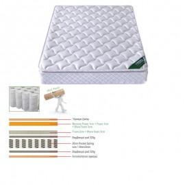 Ε2047,9 ΣΤΡΩΜΑ Pocket Spring Roll Pack με Ανώστρωμα Memory Foam